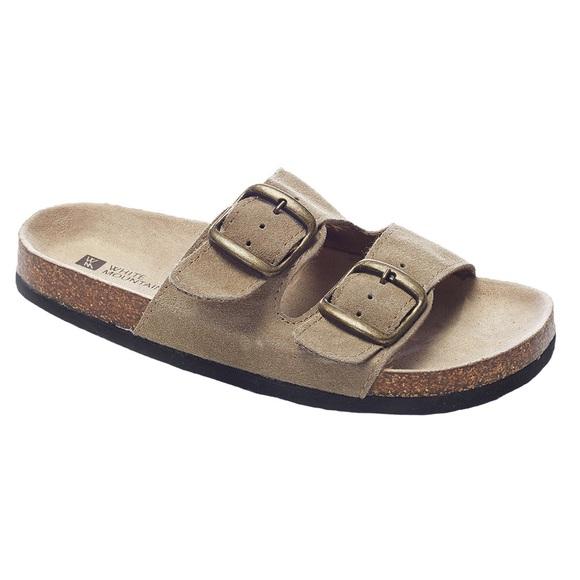 "d57576c14e5a13 NWOT White Mountain ""Helga"" Leather Sandals. M 5a8a6cb445b30c9d54b0263a"